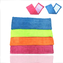 Floor Folding Flat Mop Head Coral Velvet micro fiber fabric Rag Replace Microfibre Fabric Replacement Cloth Easy Wash 42x12CM(China)