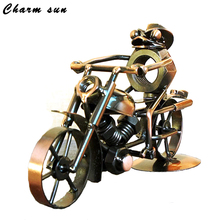 Iron Motorcycle Model Bars And Coffee Shops Small Ornaments  Fashion  Gifts For Boys Home Decoration