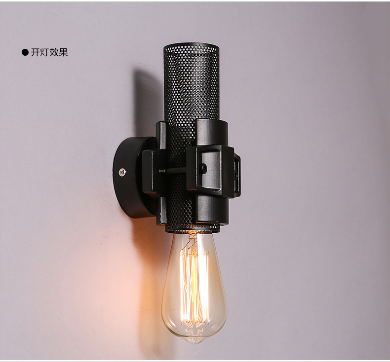Loft American Industrial Wall Sconce 1 Lamp Wall Lights For Home Wrought Iron Edison Vintage Wall Lamp Bar Decoration Lamp Wall<br><br>Aliexpress