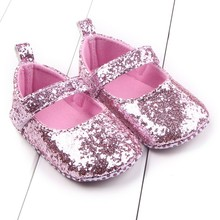 Cotton Shoes Soft Bottom Bebe Girls First Walker Toddler Baby Shoes Sequin Infant Soft Sole First Walker(China)