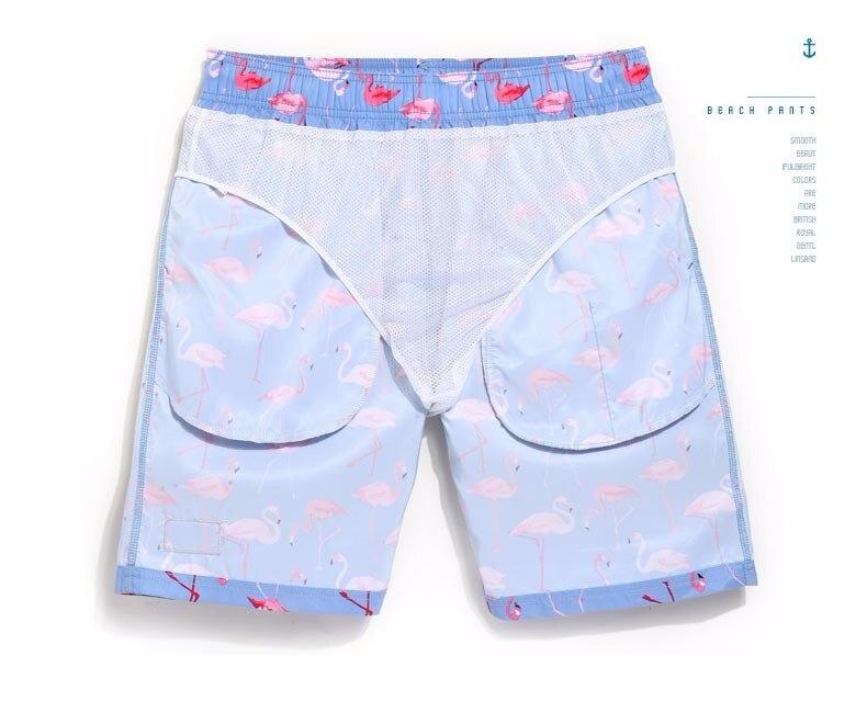 Sinised ujumispüksid flamingodega