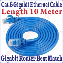 New 30FT 10M CAT6 CAT 6 Round UTP Ethernet Network Cable RJ45 Patch LAN Cord 1000M Gigabit ethernet cable, Free&Shipping
