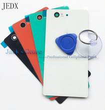JEDX For Sony Xperia Z3 Compact D5803 D5833 Glass Battery Cover Door Housing Z3 Mini Rear Back Glass Cover +Tool(China)