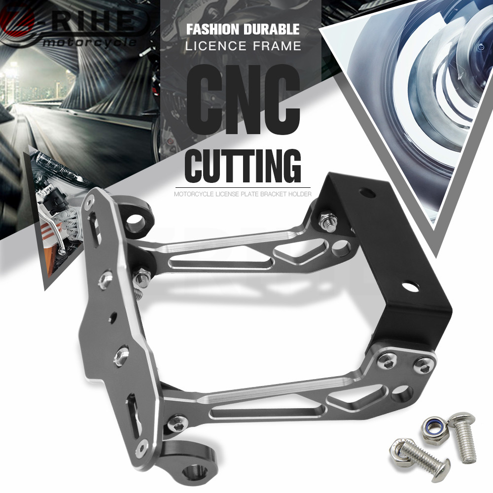 Universal motorcycle License Plate Bracket Holder for harley 883 triumph car covers pit bike gsxr tmax 530 enduro bmw r1200gs ni<br>