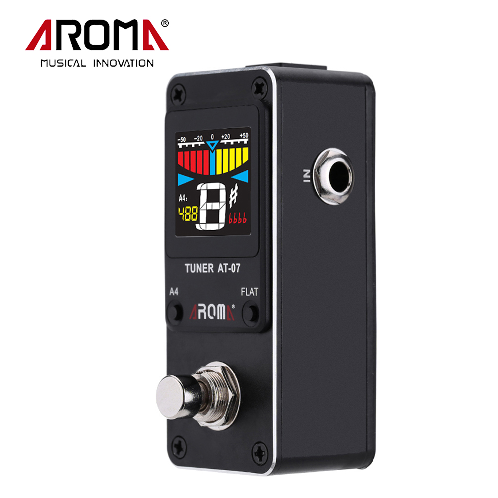 AROMA AT-07 Mini Single Chromatic Electric GuitarTuner Effect Pedal With True Bypass Music Instrument<br>