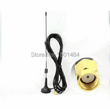 Wifi Antenna 2.4Ghz 7dbi high gain with RP-SMA male connector level Polarization extension cable NEW Wholesale hf antenna