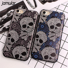 Buy JAMULAR Slim Case iPhone X 8 7 Plus SE 5S Skull Silicone Phone Cases iPhone 6 6S 7 Plus Soft Back Cover Phone Protective for $2.20 in AliExpress store