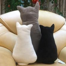 Free Shipping Custom Cute cat pillow plush cushion Cat Short Mattress Plush Decorative Cushion For Sofa Office Chair Back Pillow(China)