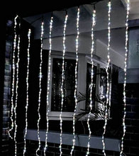 320LED bulbs water flow snowing effect curtain led waterfall string Lights 3M*3M Christmas Xmas Wedding Party Background garden(China)