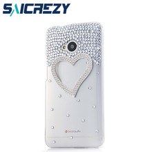 New Hot Fashion rose pearl case cover for htc Desire 816 800 D816W/m7/X920D/T6/200/601 diamond cell phone protection case shell(China)