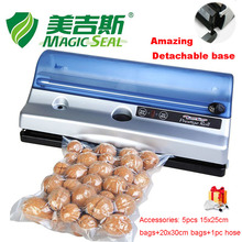 Built-in roll cutter removable base food saver vacuum sealer vacuum packing machine(China)