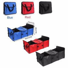 Triclicks Collapsible Multi Storage Cargo Basket Car Truck Cooler Set Organizer SUV Trunk Fabric Foldable Container Bag Box Sets