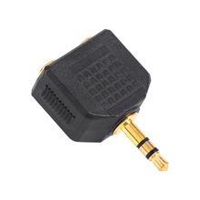 Car-Styling 3.5mm Airplane Headphone 1 to 2 Earphone Audio Adapter Converter Connector Airline Jack Accessories