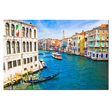 Canvas Wall Art Italy The Grand Canal In Venice Poster Beauty World Landscape Painting Contemporary Art Decorations For Bedroom(China)