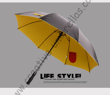 (2pcs/lot) visible double layers fabric golf umbrellas.fiberglass,auto open,anti static,anti-thunder,inner pocket inside panel