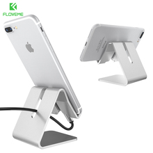 FLOVEME Phone Stand Holder For iPad Tablet For iPhone X 7 6 6S Plus 5 5S SE For Samsung Galaxy S8 S7 Edge Aluminum Charger Stand(China)