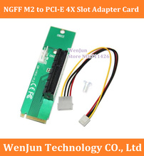 5PCS/lot High Quality NGFF M2 to PCI-E 4X Slot Adapter Card M key M.2 port SSD Port to PCI Express pcie Expansion Card