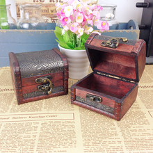 SAE Fortion Vintage Jewelry Box Jewelry Organizer Storage Case Mini Container Decorative Wooden Beauty Boxes Free Shipping ZH153