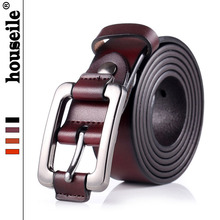 Buy HOUSEILE 100% Genuine Cowhide Leather Belt Ladies Vintage Casual Brand Belts Women Jeans High Pin Buckle Waist Strap for $11.56 in AliExpress store