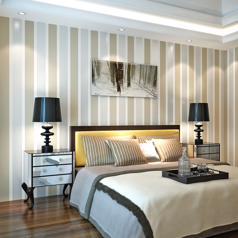 Personality non-woven wallpaper vertical striped wallpaper living room bedroom wall papers for home decor<br>