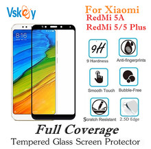 Buy VSKEY 10PCS 2.5D Full Cover Tempered Glass Xiaomi Redmi 5 Plus Screen Protector Redmi 5A Protective Film 2.5D for $10.80 in AliExpress store