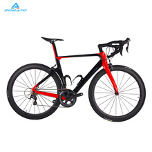 Free Ship!2016 Full Carbon Road Bicycle Carbon Bike DIY Complete Bicycle Completo Bicicletta 700*25mm Carbon Road Bike(China)
