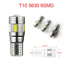 Car Styling T10 LED 194 W5W Canbus 6 SMD 5630 5730 LED Light Bulb No Error led parking Fog light Auto No Universal car light(China)
