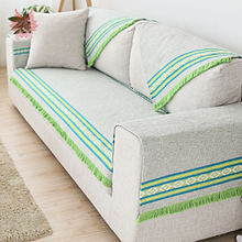 American style high grade green cotton linen sofa cover fringed slipcovers canape four season usage SP3255 FREE SHIPPING