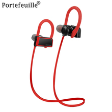 Portefeuille Bluetooth Headphones Wireless Sports Earphones For iPhone 8 7 Samsung Xiaomi IPX5 Sweatproof Stereo In Ear Earbuds(China)