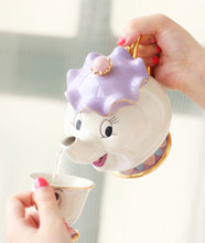 New style Cartoon Beauty And The Beast Teapot Mug Mrs Potts Chip Tea Pot Cup for collection