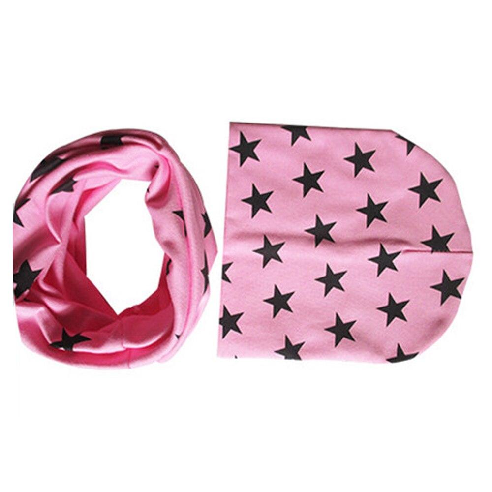 Howdysexy Hot Sale Winter Autumn Baby Hat Scarf Girl Boy Cotton Beanie Star Print Knitted Toddlers Cap 1 Set Pink Hat ScarfÎäåæäà è àêñåññóàðû<br><br><br>Aliexpress