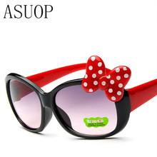 ASUOP fashion Kids Sunglasses children Princess cute baby Hello- glasses Wholesale High quality boys gilrs suanglassSummer style(China)