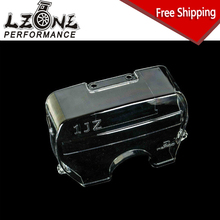 LZONE RACING - FREE SHIPPING for TOYOTA SUPRA 1JZ NEW racing clear pulley cover/timing belt cover/cam cover JR6336