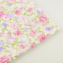 Sewing Cloth Bedding Scrapbooking Decoration Fabrics Home Textile Pink Printed Floral Designs Cotton Fabric Twill Quilting Tela