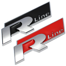 New Metal 3D Car Auto Rline Sticker Emblem R Line Badge for Volkswagen VW GOLF GTI Beetle Polo CC Touareg Tiguan Passat Scirocco