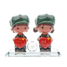 "5.3"" Cute Car Decorative Creative Military Doll Car Air Freshener Soft Plastic Car Perfume Seat Supplier Car-styling G1TAQP08552(China)"