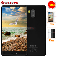 Uhans MX 5.2 Inch Bezel-less HD Mobile Phone Front Touch ID 2GB RAM 16GB ROM 8MP MT6580 Quad Core Dual SIM 3000mAh Smartphone(China)