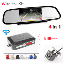 2.4G Wireless Car Accessories Dual Core CPU Parking Sensor 4.3 Inch TFT LCD Car Monitor Car Rearview Camera Reverse Radar System