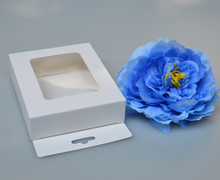 New 3*10*12cm white paper box with hook pvc window package box  party favor / clear boxes / display cases