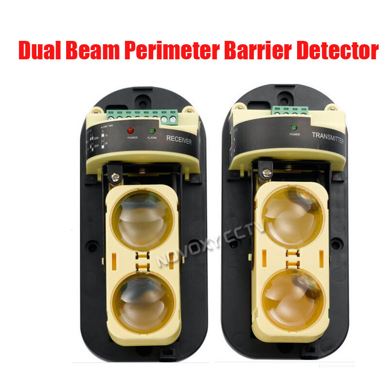 Free shipping New 2 beams frequency adjustment active infrared detector waterproof/rain proof/dust proof beam sensor alarm secur<br>