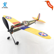Simulate Rubber Powered Military Aircraft Assembly Model Kits Airplane Toys Boys Gifts Developmental Toys Enjoy Flying Fun