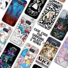 Hot sale Alice in Wonderland punk Clear Case Cover Coque Shell for Samsung Galaxy S3 S4 S5 Mini S6 S7 Edge Plus(China)
