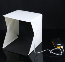 30CMX30CMX30CM Mini Folding Studio Diffuse Soft Box With LED Light Black White Background Photo Studio Accessories