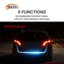 KEEN Tailgate signal light strip Red&Blue trunk light strip kit Turn Signal Tail led moving flash warning car led flexible lamp