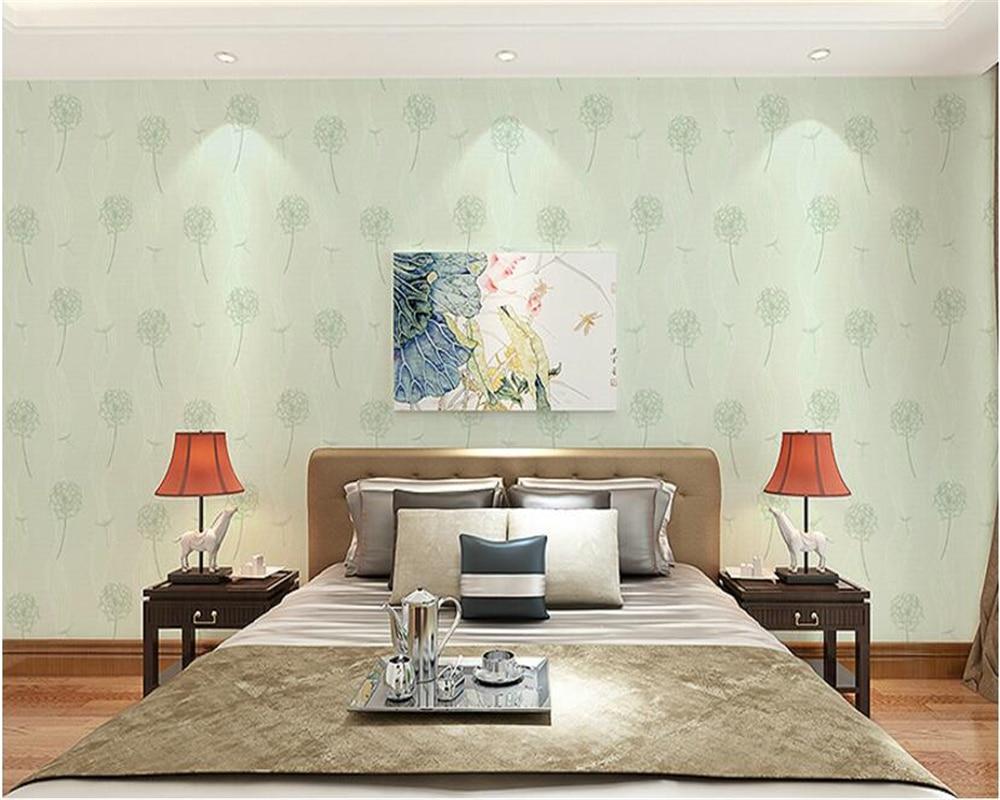 beibehang papel de parede Nonwoven Pastoral Wall paper Dandelion Wedding Room Wallpaper Bedroom Living Room Backdrop Kids Room<br>