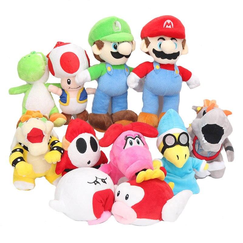 15cm-25cm Super Mario Bros Muñecos De Peluche Relleno Suave Juguetes De Mario Birdo Caterpillar