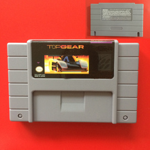 High Quality Top Gear 46 Pin 16 Bit Grey Game Card For USA NTSC Game Player(China)