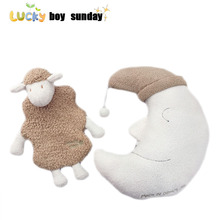 new arrive moon shape pillow cute soft sheep hot water bottle case kids toys baby doll best gift for girlfriend Japanese style