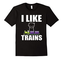T Shirt Men 2017 Fashion High Quality FUNNY I LIKE TRAINS T-SHIRT National Train Day Gift(China)
