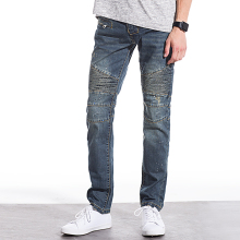 High quality Biker jeans fashion men denim straight jeans slim washed jeans men hot popular men jeans size: 28-40(China)